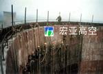 山东荣城热电厂冷却塔内壁防腐堵漏施工